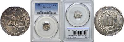 1858. PCGS. MS-64.