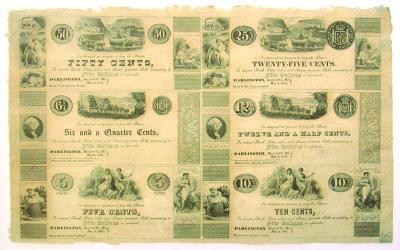 1841. 50c, 6 1/4c, 5c, 25c, 12 1/2c, 10c. CU. MD.