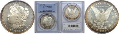 1878-7TF. PCGS. MS-65. PL.