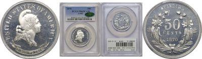 1870. Half Dollar. PCGS. PR-65. CAM. J-943.