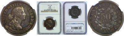 1870. Half Dollar. NGC. PF-66. J-988.