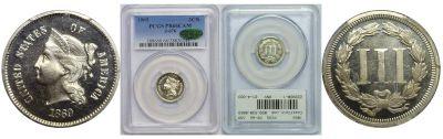 1869. Three Cent. PCGS. PR-66. CAM. J-676.