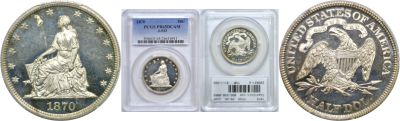1870. Half Dollar. PCGS. PR-65. DCAM. J-933.