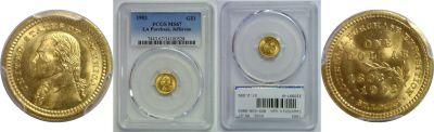 1903. PCGS. MS-67. La. Purchase - Jefferson $1.