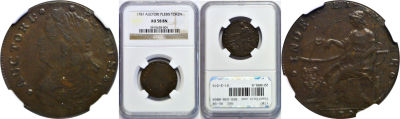 1787. Auctori Plebis Token. NGC. AU-58.