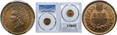 1865. PCGS. MS-66. RB.