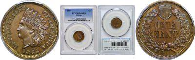 1864 Bronze. PCGS. PR-64. BN.