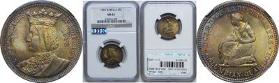 1893. NGC. MS-66. Isabella Qtr.