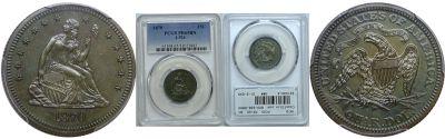 1870. Quarter. PCGS. PR-65. BN. J-924.