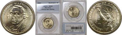 2007-P. ANACS. MS-65. George Washington.
