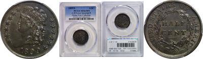 1809/6. PCGS. MS-63. BN.