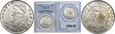 1820/19. PCGS. AU-55.