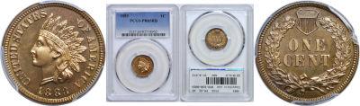 1883. PCGS. PR-65. RB.