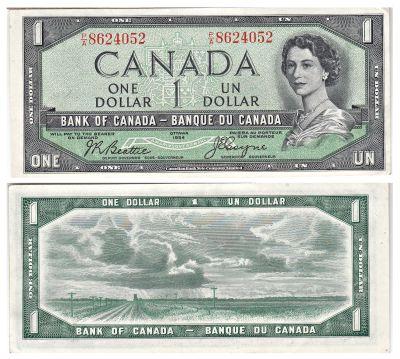 1954. Canada. $1. CAU. P-66b.