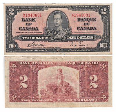 1937. Canada. $2. FINE. P-59b.