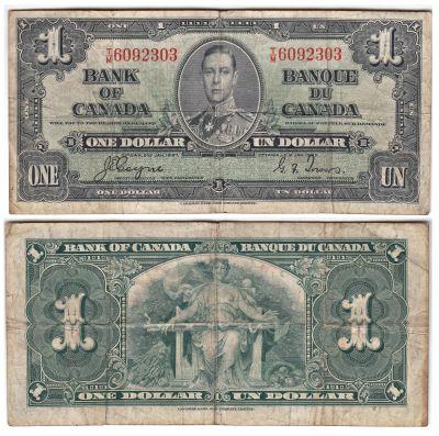 1937. Canada. $1. FINE. P-58e.