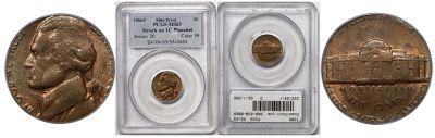 1980. PCGS. MS-63. Nickel. Wrong Planchet.