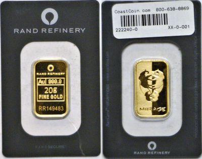 Rand Refinery. 20 Grams.