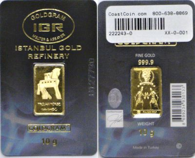 IGR Istanbul Gold Refinery. 10 Grams.