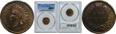 1872. PCGS. PR-65. RB.