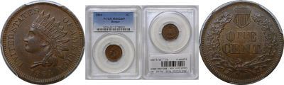 1864 Bronze. PCGS. MS-62. BN.