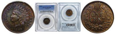 1865. PCGS. MS-62. BN.
