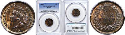 1864 Bronze. PCGS. MS-64+. BN.