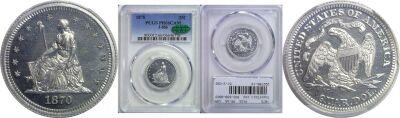 1870. Quarter. PCGS. PR-66. CAM. J-886.