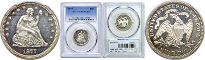 1877. PCGS. PR-64. CAM.