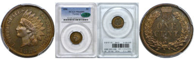 1886 T-2. PCGS. PR-66. BN.