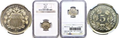 1866. Nickel. NGC. PF-67. J-504.