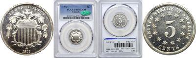 1873. PCGS. PR-66. CAM.