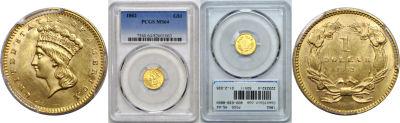 1862. PCGS. MS-64.