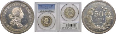 1870. Half Dollar. PCGS. PR-64+. CAM. J-951.