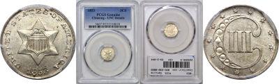 1853. PCGS. Genuine.