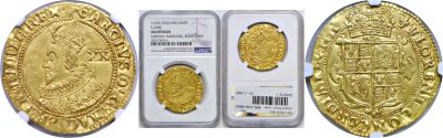 ND(1625-42). Great Britain. Unite. NGC.