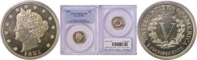 1883-N/C. PCGS. PR-64. CAM.