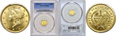 1850-O. PCGS. MS-62.
