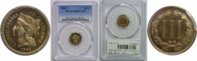1865. PCGS. PR-66. CAM.