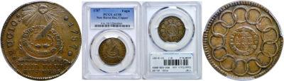 1787. Fugio Cent. PCGS. AU-58.