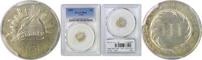 1850. Three Cent. PCGS. PR-64. J-125.