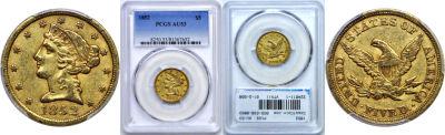 1852. PCGS. AU-53.