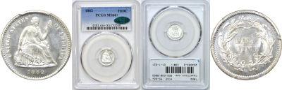 1862. PCGS. MS-66+.