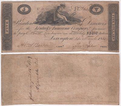 1814. $5. FINE. KY.
