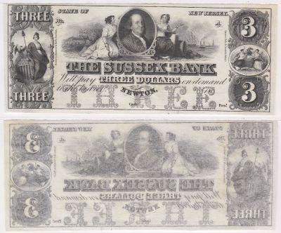 1800's. $3. CU. NJ.