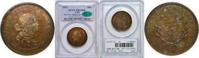 1870. Half Dollar. PCGS. PR-65. RB. J-984.