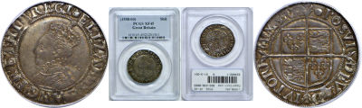 (1558-03). Great Britain. PCGS. XF-45. Shilling.