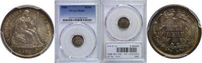1860. PCGS. MS-65.