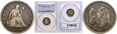 1875-CC. PCGS. VG-10.