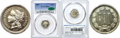 1867. PCGS. PR-66.